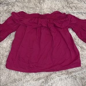 Cute off the should size Large blouse